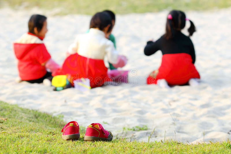 Play sand stock photo