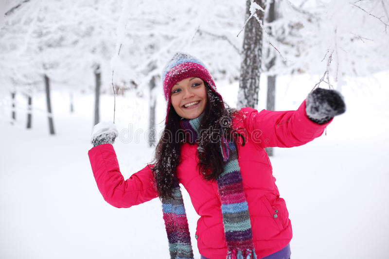 Download Play snowballs stock photo. Image of park, good, nature - 22205658
