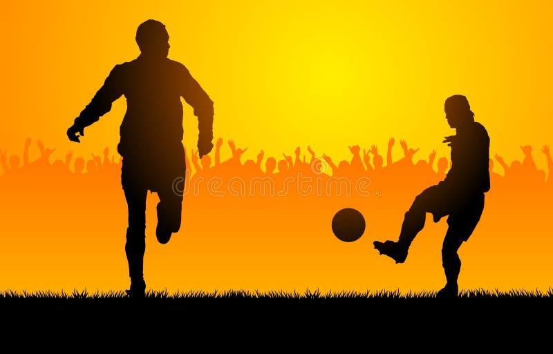 Play soccer stock illustration