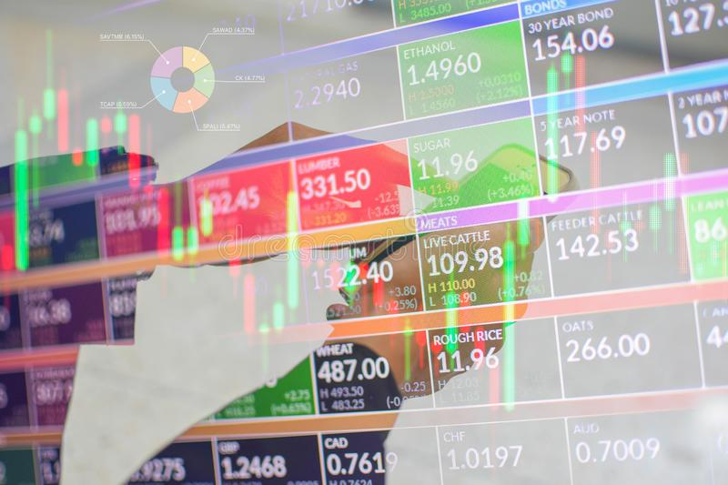 Play stocks in the forex market.  royalty free stock photo