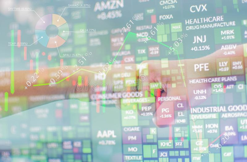 Play stocks in the forex market.  royalty free stock image