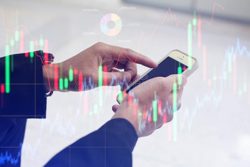 Play stocks in the forex market.  royalty free stock photography