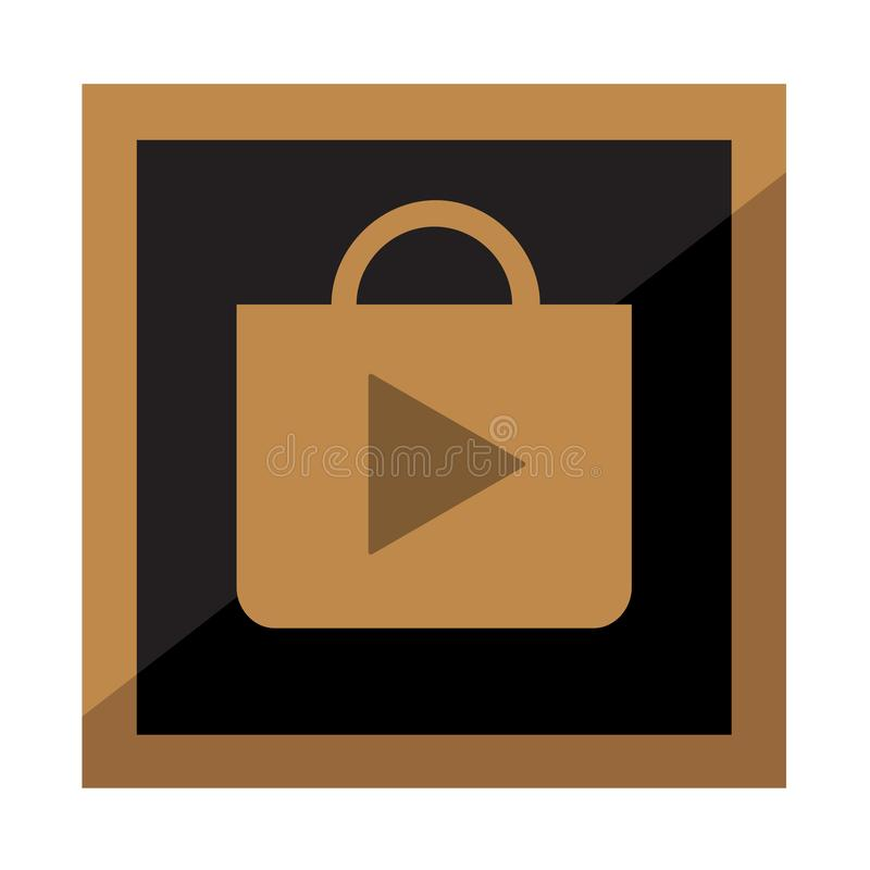 Play store brown button. Vector design of icon vector illustration