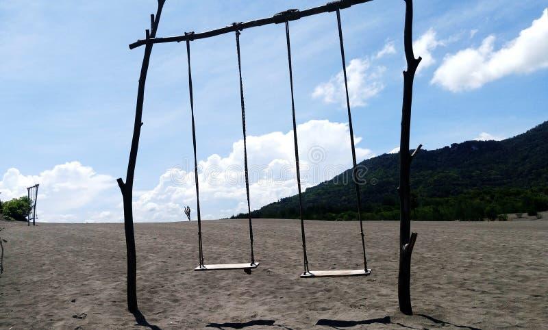 Play swing at Desert stock image