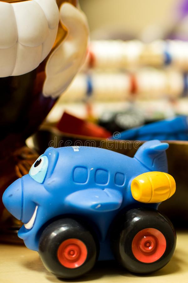Play time at the Daycare. A number of types of toys found at a simple daycare, kindergarten class, or even in one`s home royalty free stock photography