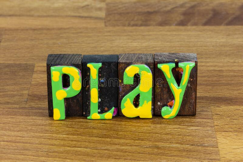 Play together have fun school playground gamble entertainment. Play together and have fun with laughing children at school playground.  Gamble entertainment at stock photo