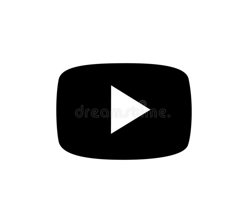 Play vector logo. Play button video player Social media YouTube. vector illustration
