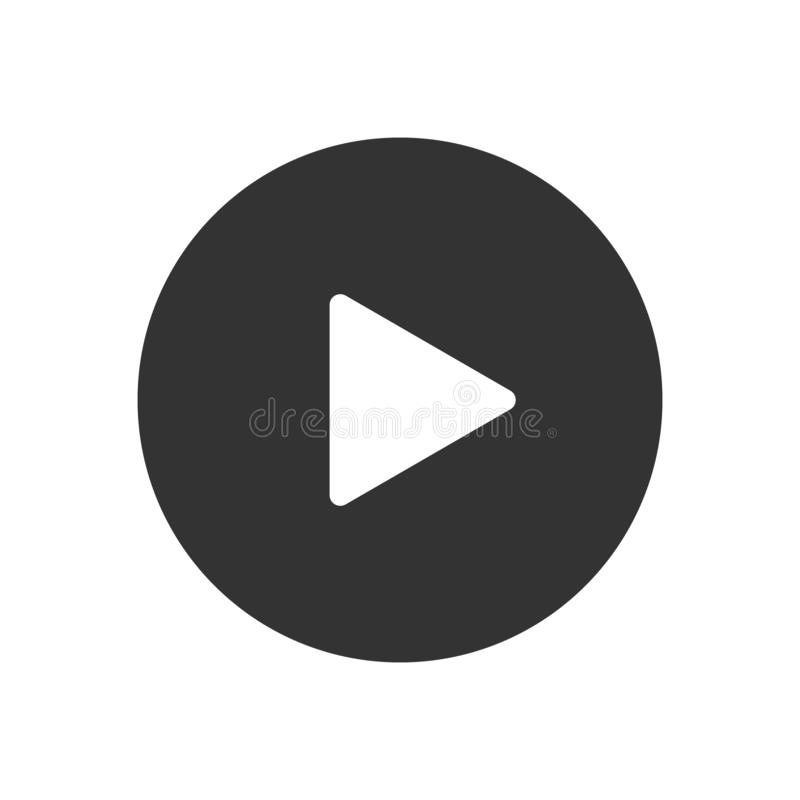 Play Video button vector icon royalty free illustration
