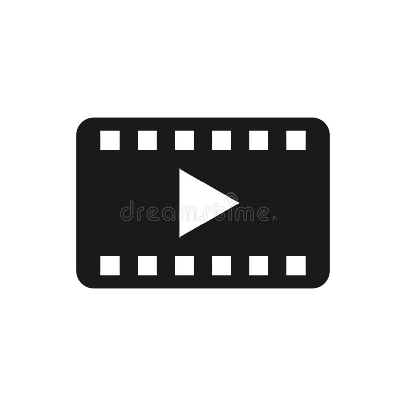 Play video film strip vector icon. For your web site design, logo, app, UI. Vector illustration.  vector illustration