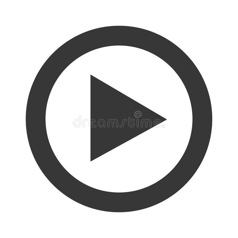 Play video line icon design. royalty free illustration