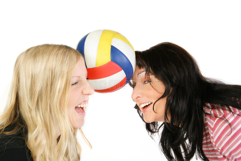 Play Volleyball! royalty free stock images