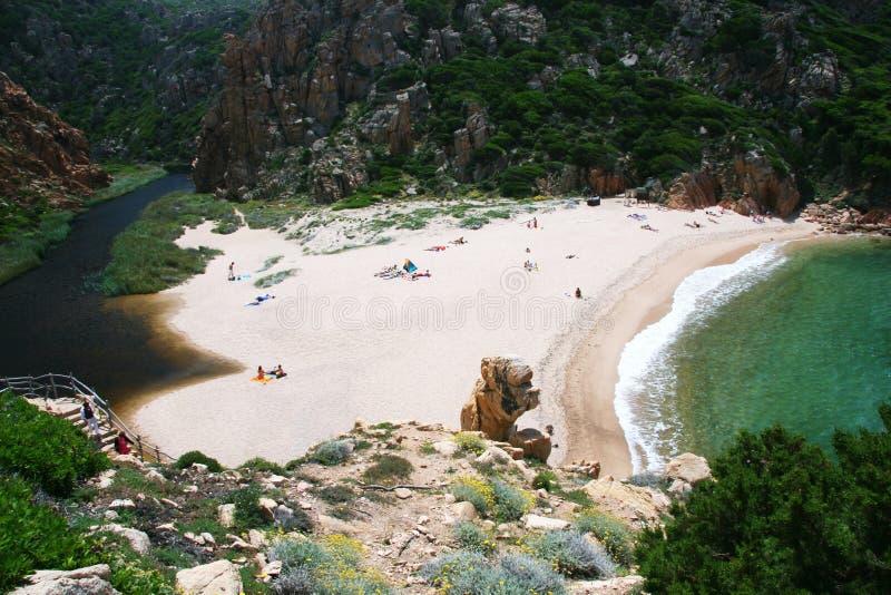 Playa 1 de Li Cossi fotografía de archivo