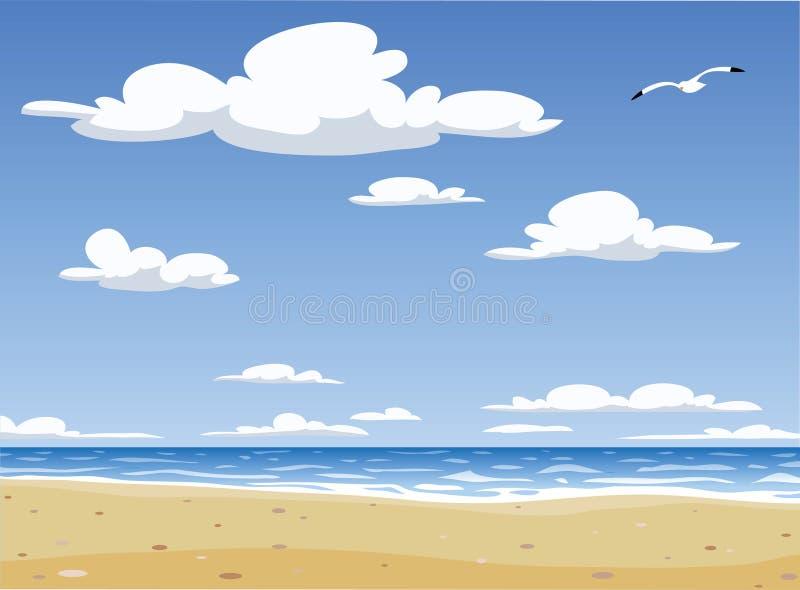Playa stock de ilustración