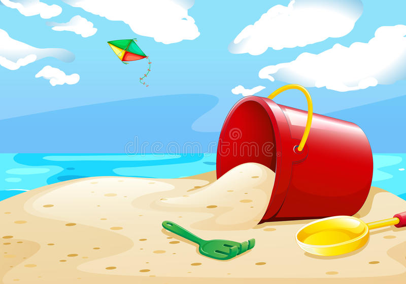 Playa ilustración del vector