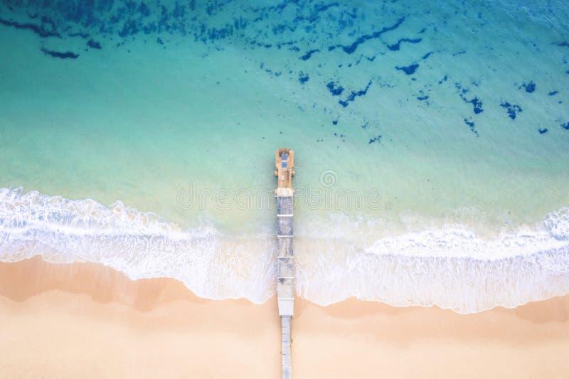 Playa aérea Australia de Collaroy imagenes de archivo