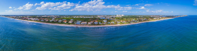 Playa aérea FL LOS E.E.U.U. de Boynton del panorama foto de archivo
