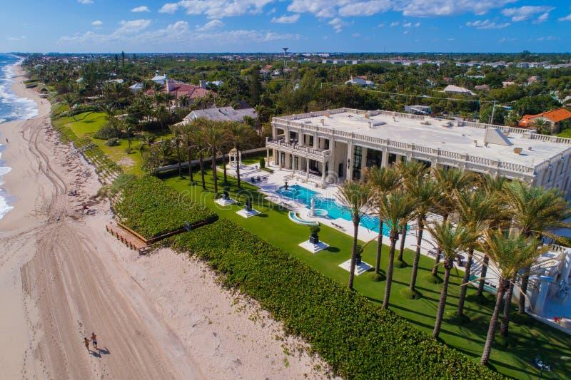 Playa aérea la Florida los E.E.U.U. de Boynton de la escena de la playa imágenes de archivo libres de regalías