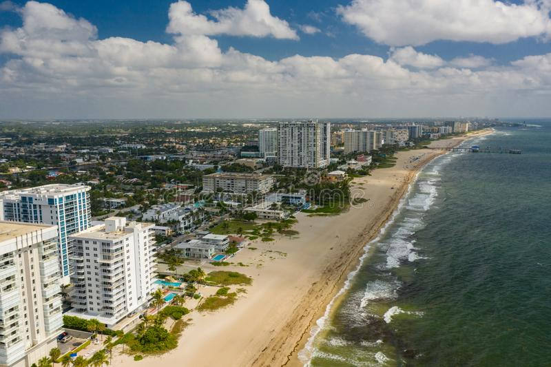 Playa a?rea la Florida los E.E.U.U. del pompano de la foto foto de archivo libre de regalías