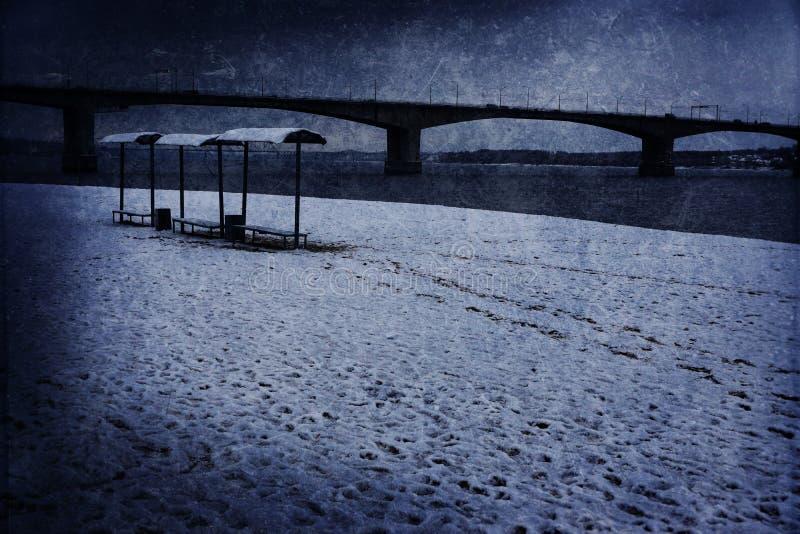 Playa abandonada foto de archivo