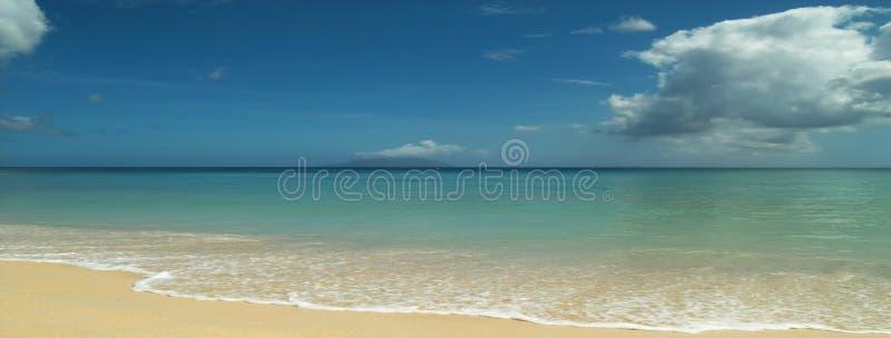 Playa absolutamente arenosa. Panorama. fotografía de archivo libre de regalías