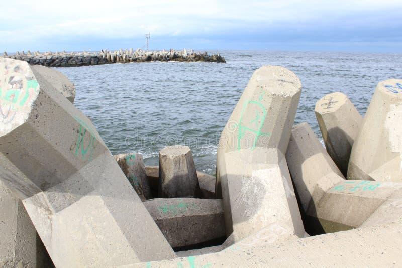 Playa agradable NJ del punto de Océano Atlántico fotos de archivo libres de regalías