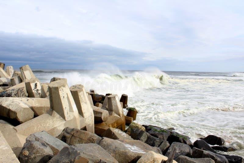 Playa agradable NJ del punto de Océano Atlántico fotografía de archivo libre de regalías