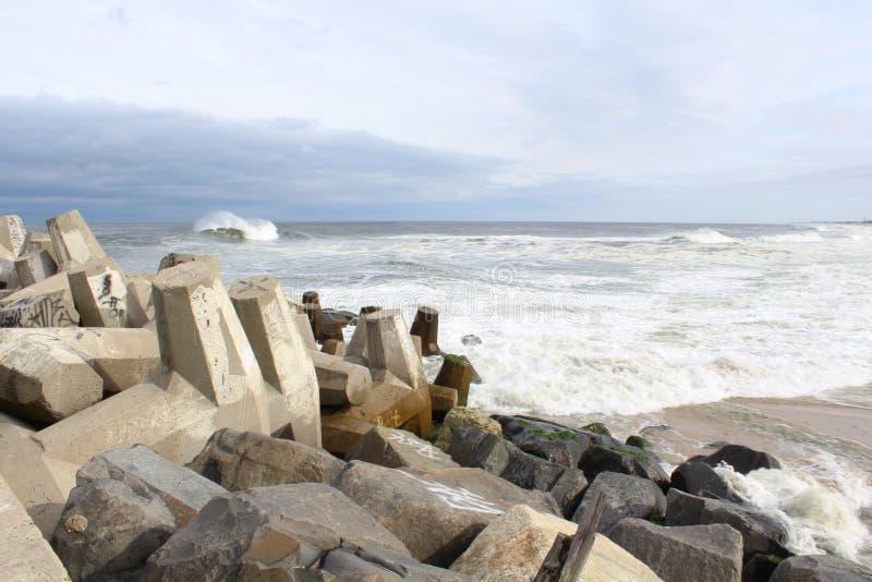 Playa agradable NJ del punto de Océano Atlántico foto de archivo libre de regalías