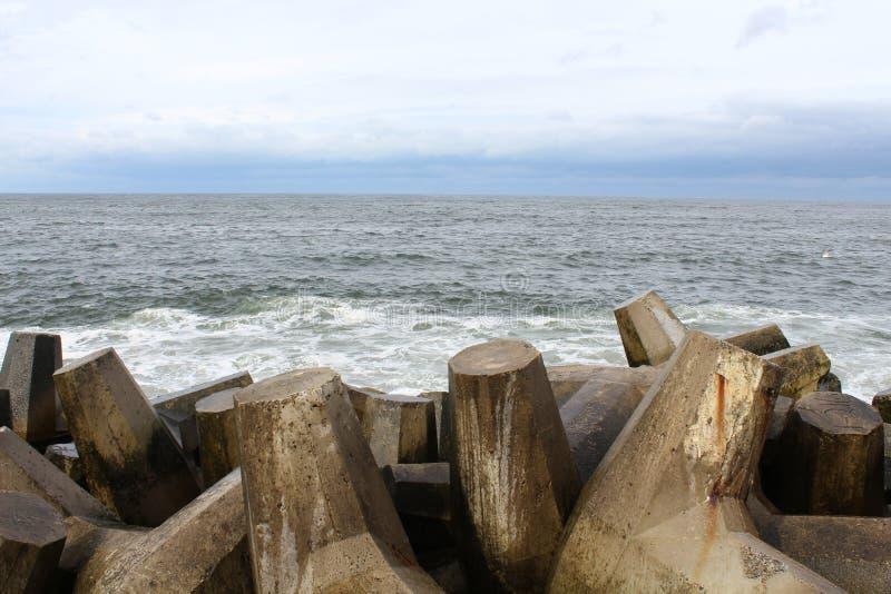 Playa agradable NJ del punto de Océano Atlántico foto de archivo