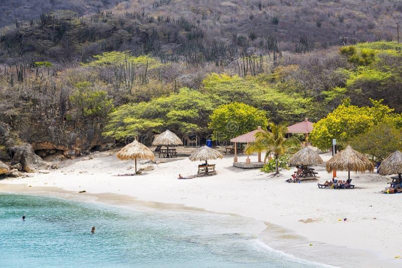 Playa aislada de Curaçao foto de archivo