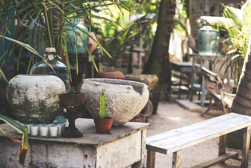 Playa al aire libre rústica México de la decoración imagenes de archivo