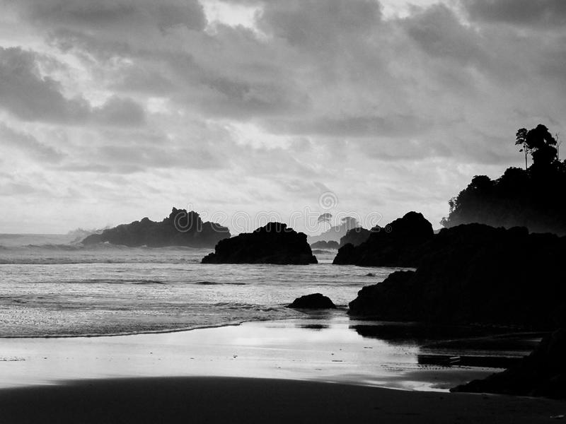 Playa Almejal, El Valle, bahÃa Solano, Chocà ³, Kolumbia zdjęcie stock