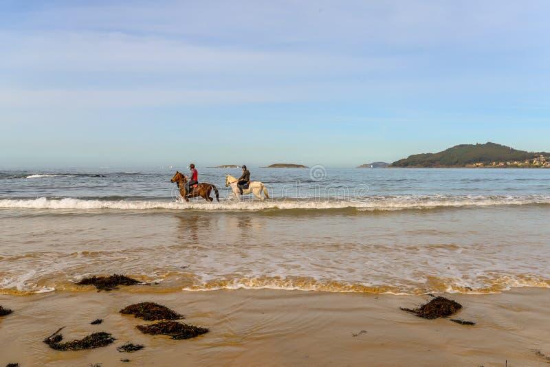 Playa América - Nigran - Galicia fotos de archivo libres de regalías