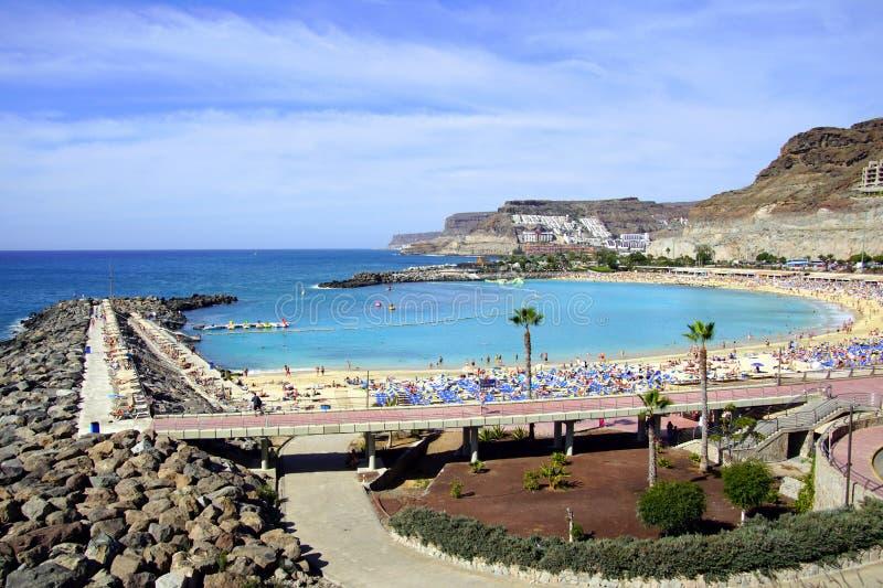 Playa Amadores de Puerto Rico de Gran Canaria, Espanha foto de stock royalty free