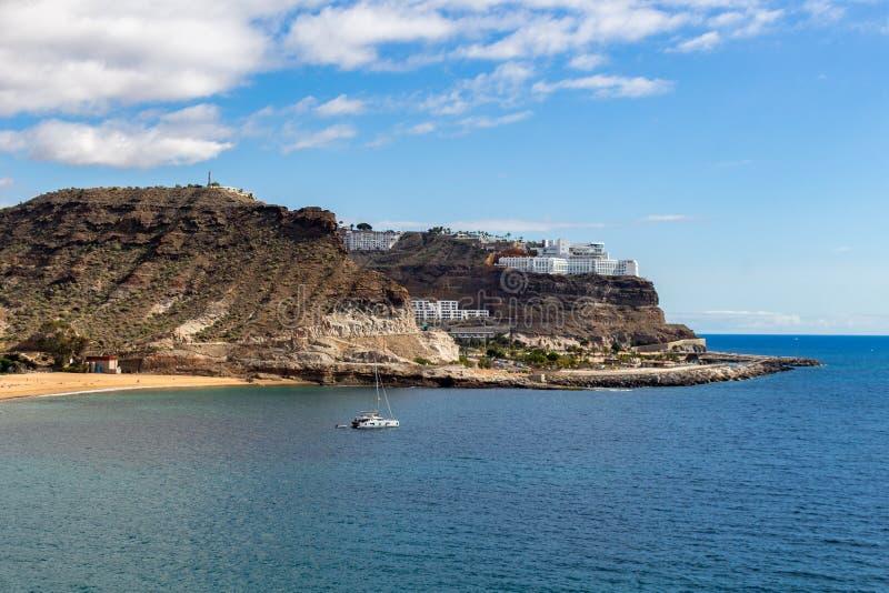 Playa Amadores Gran Canaria royalty-vrije stock afbeelding