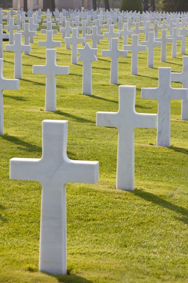 Playa americana Normandía Francia de Omaha del cementerio fotos de archivo