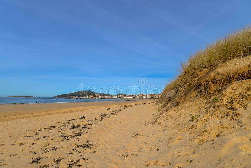 Playa Ameryka, Nigran, Galicia - zdjęcia stock