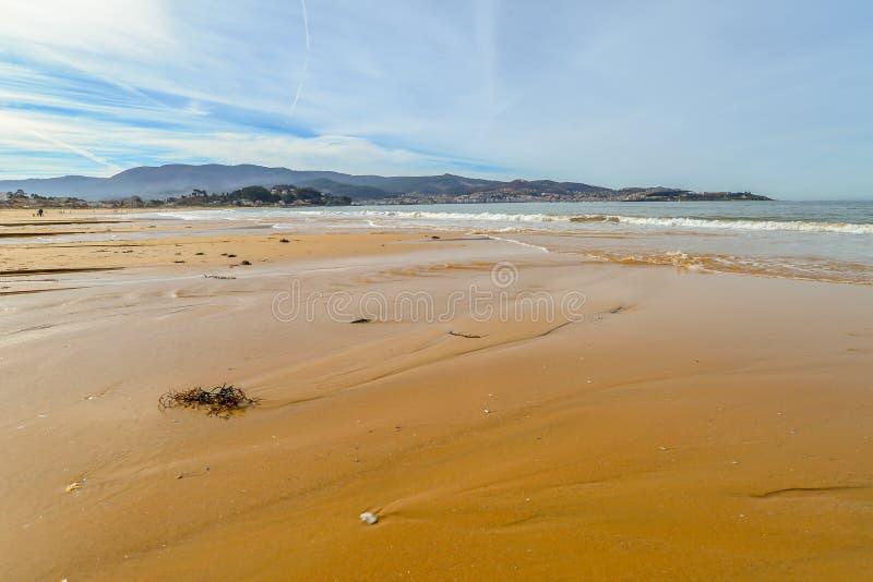 Playa Ameryka, Nigran, Galicia - obrazy stock