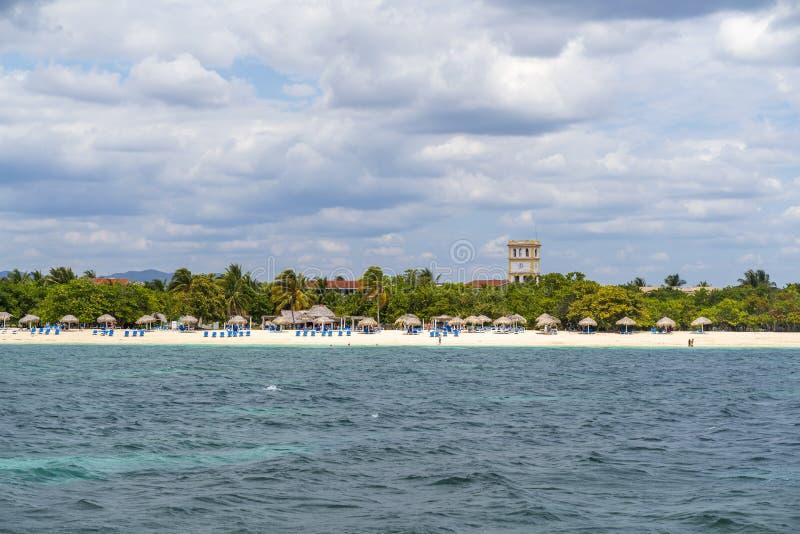 Playa Ancon nära Trinidad royaltyfri fotografi