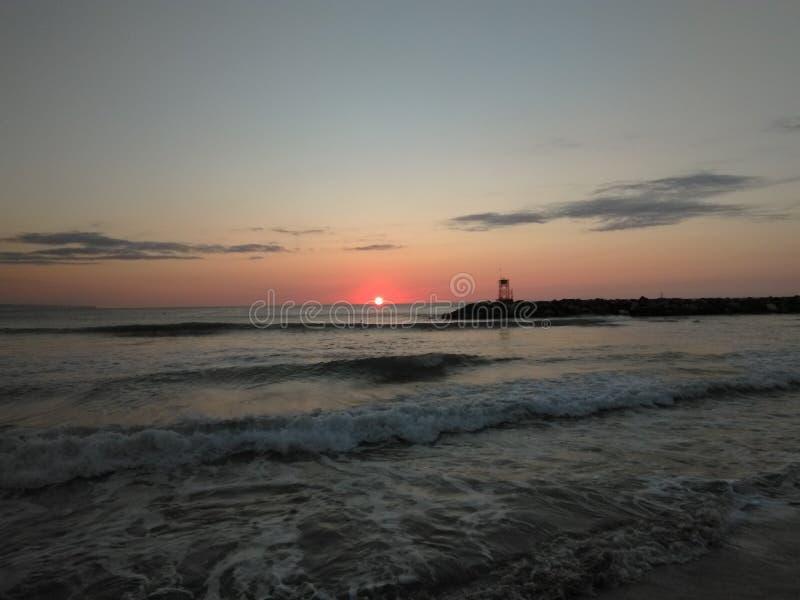 Playa Aquadillia Puerto Rico 2017 de Rompeolas imagen de archivo