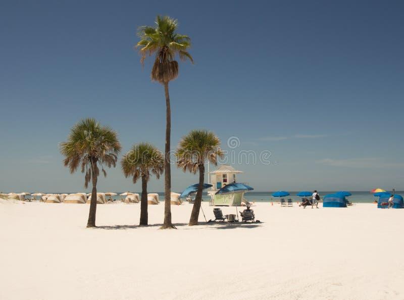 Playa arenosa blanca en el clearwater la Florida imagen de archivo
