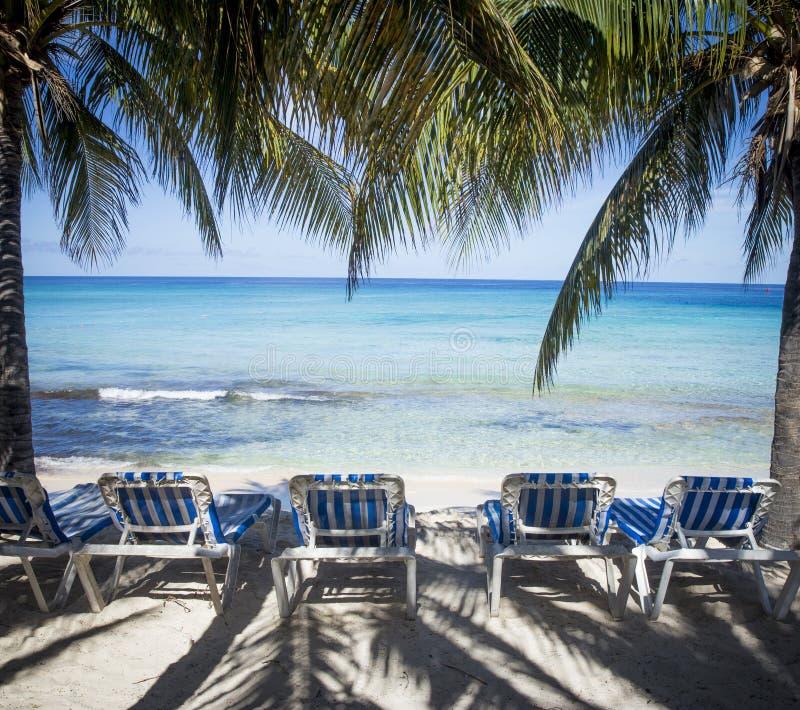 Playa arenosa del Caribe hermosa foto de archivo libre de regalías