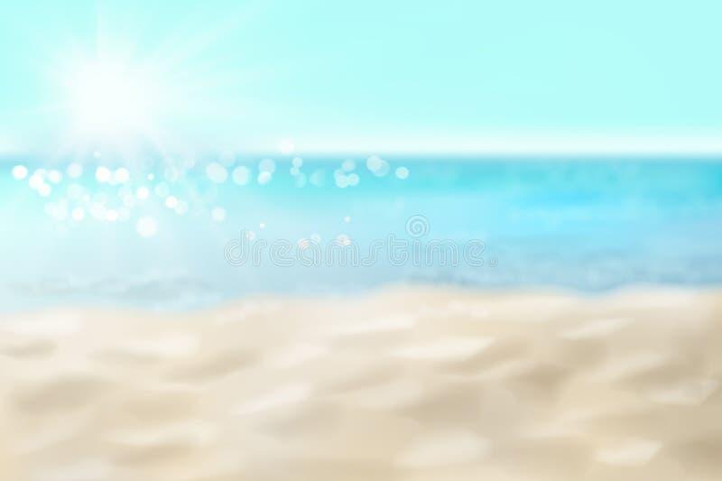 Playa arenosa vac?a Ilustraci?n del vector stock de ilustración