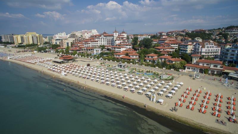 Playa asoleada, Bulgaria imagen de archivo