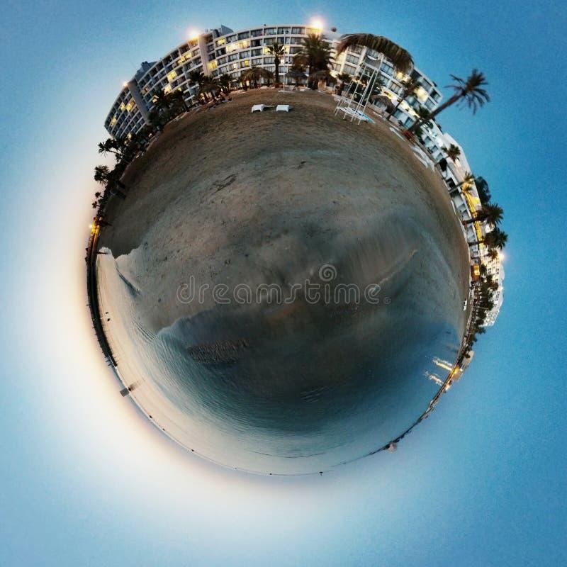 Playa azul foto de archivo