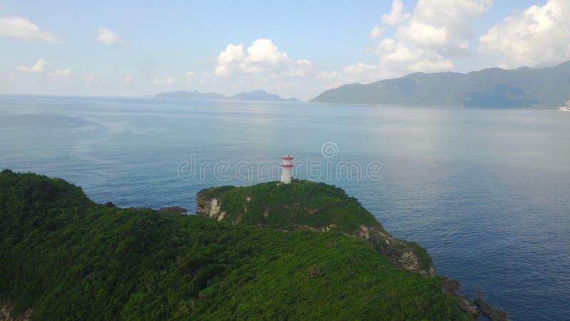 Playa azul de la antena de la roca del mar de la playa imágenes de archivo libres de regalías