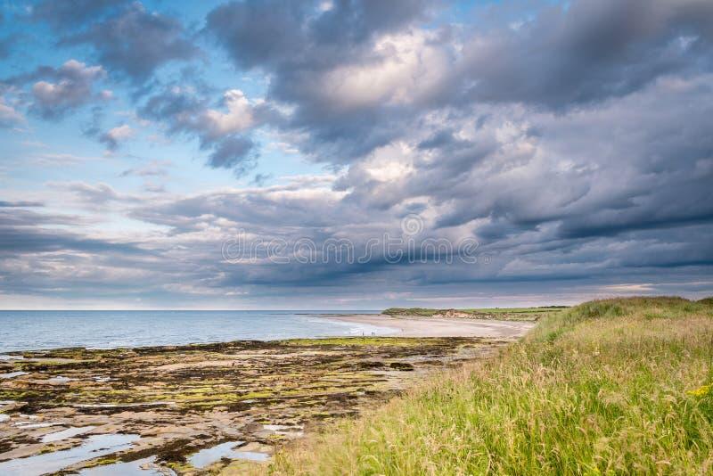 Playa baja de Hauxley foto de archivo libre de regalías