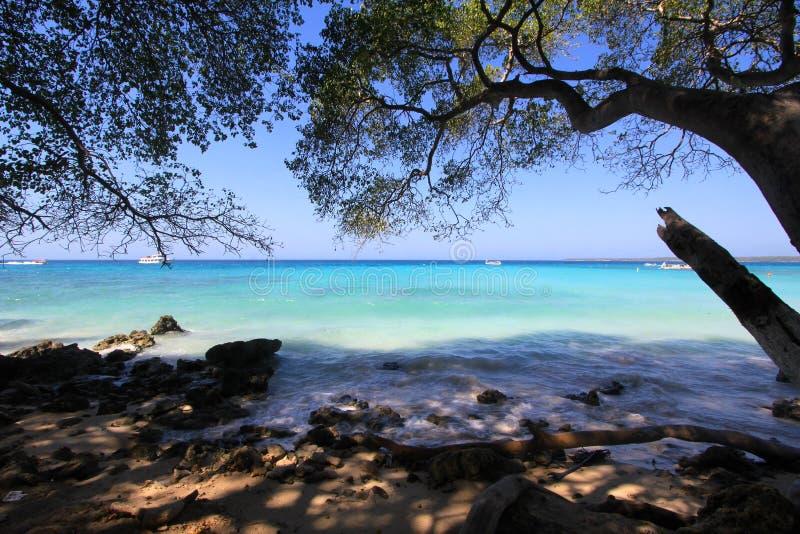 Playa Blanca, Colombia. Playa Blanca on Isla Baru in Colombia stock image