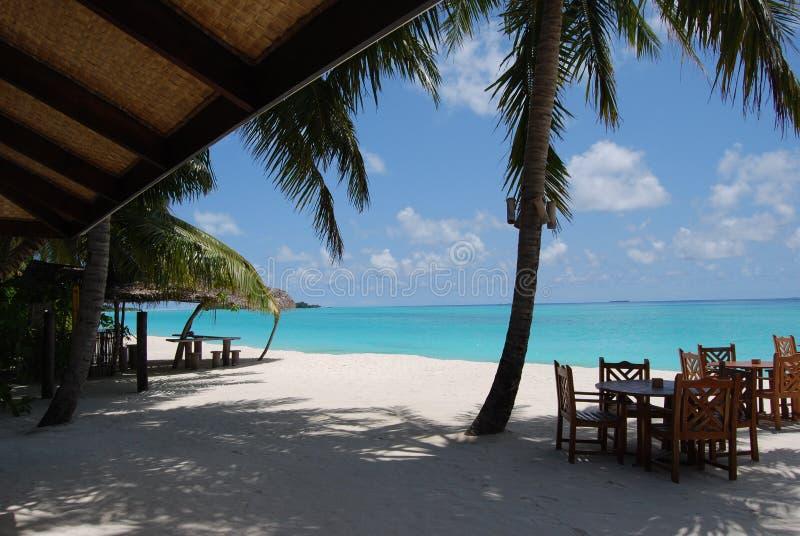 Playa blanca de la arena fotos de archivo libres de regalías