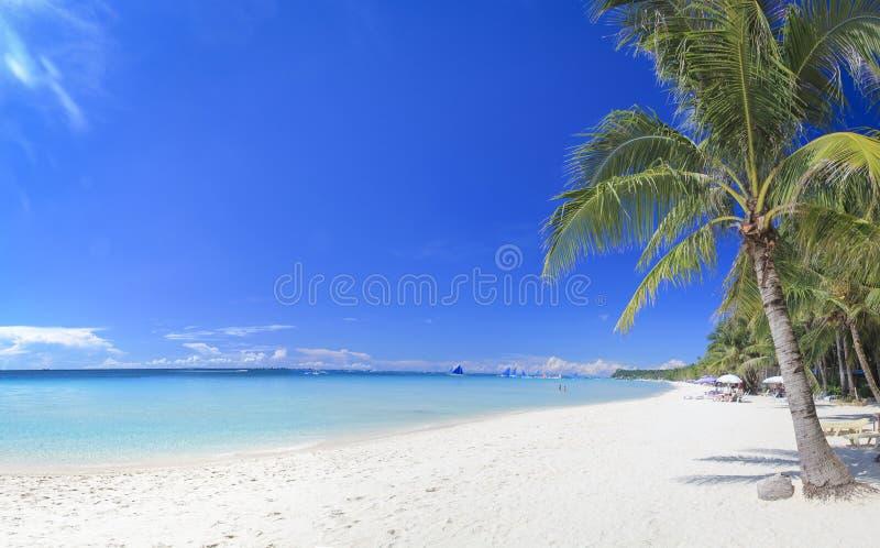 Playa blanca Filipinas de la arena de la isla de Boracay foto de archivo libre de regalías