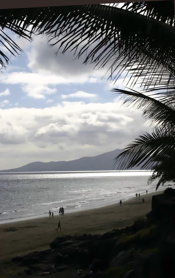 playa blanca Lanzarote obrazy stock